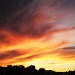 Sky's on fire