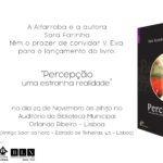"""Mais detalhes sobre o lançamento do livro """"Percepção"""""""