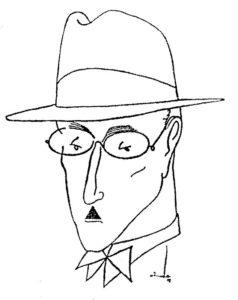 Caricatura por Almada Negreiros