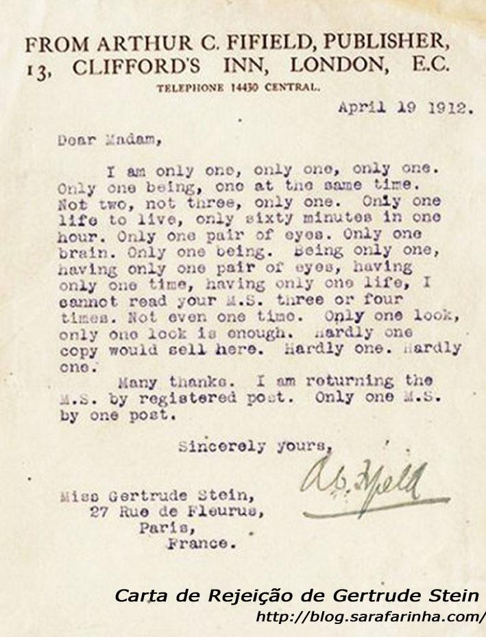 Rejeição_Gertrude Stein