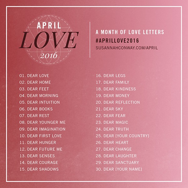April Love 2016 Prompts