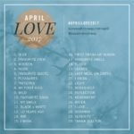 Diário de Bordo: #April Love 2017