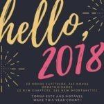 Olá, 2018. / Hello, 2018!
