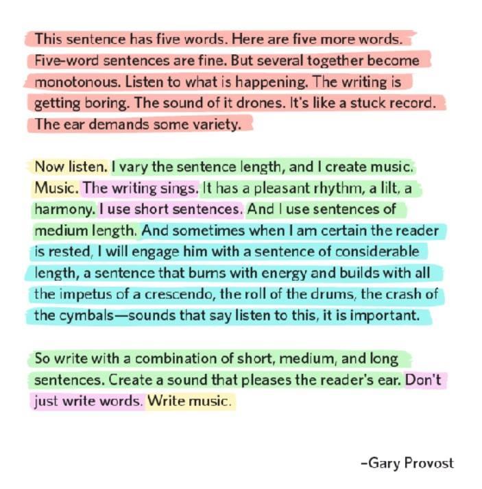 comprimento de frases