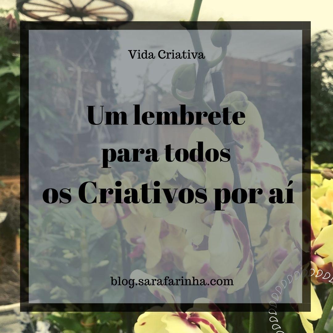 um lembrete para criativos