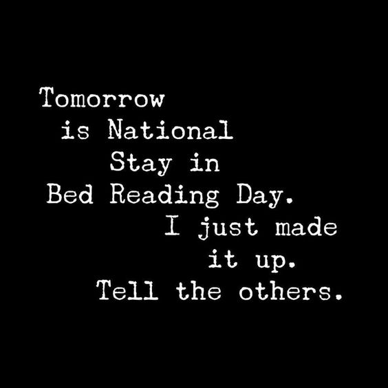 national stay in bed reading day