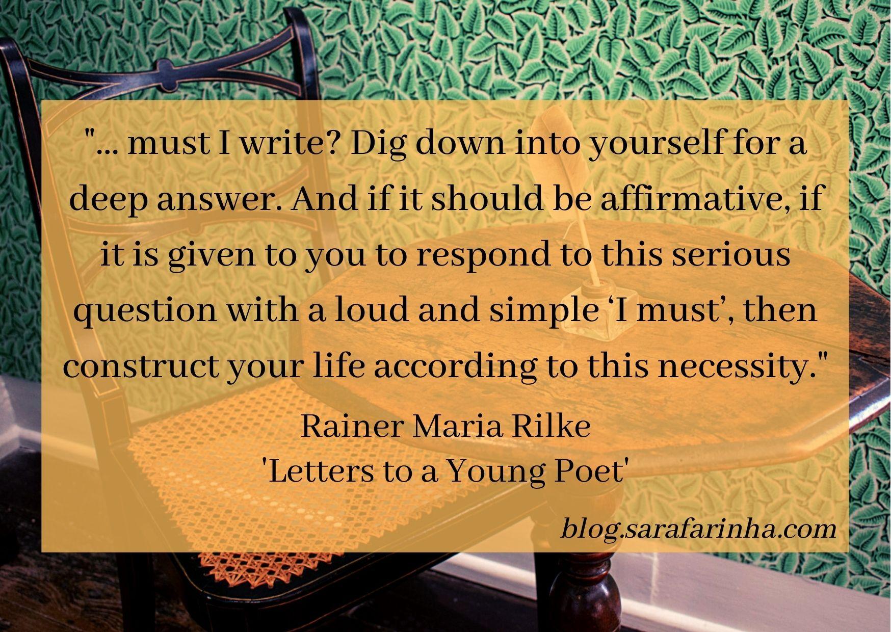 must I write Rilke